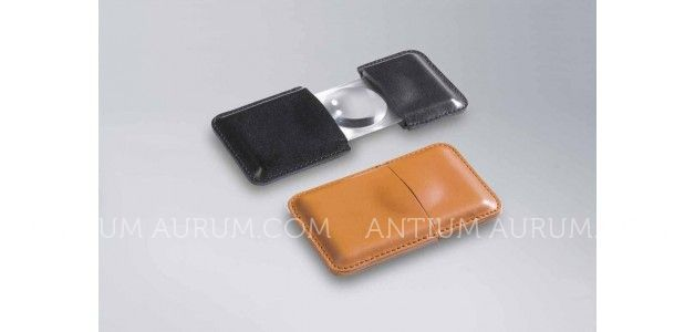 POCKET MAGNIFIER WITH LEATHER CASE - DIAMETER 32 mm