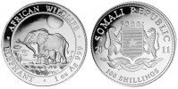 AFRICAN WILDLIFE ELEFANT 2011 - 1Oz