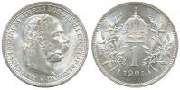 1 KORUNA 1901 FRANTIŠEK JOSEF I. (1848 - 1916)
