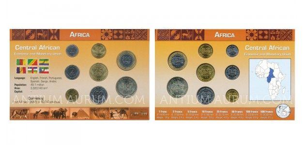 Sada oběžných mincí CENTRÁLNÍ AFRICKÉ STÁTY (Central African Economic and Monetary Union)