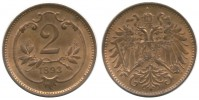 2 HELLER 1893 FRANTIŠEK JOSEF I. (1848 - 1916)
