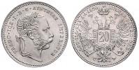 20 KREUZER 1870 FRANTIŠEK JOSEF I. (1848 - 1916)