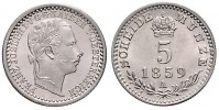 5 KREUZER 1859 A FRANZ JOSEPH I